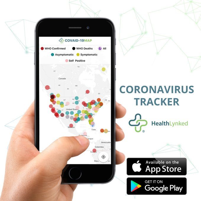 HealthLynked Corp. Tracks Worldwide Spread of Coronavirus and Keeps Users Informed With Novel Interactive App